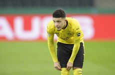 Sancho to miss Champions League return leg with Manchester City