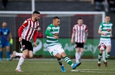 This wonder goal by Burke from halfway line helps Shamrock Rovers to victory over Derry City