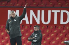 Ole Gunnar Solskjaer says red background has affected Man United's home form