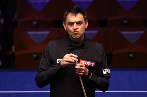Ronnie O'Sullivan on the opening day of the World Championships.