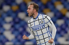 Eriksen rescues Inter as Juve suffer first defeat to Atalanta in two decades