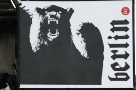 File photo - Berlin D2 bar sign