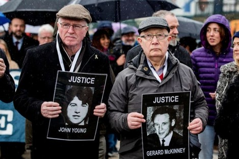 Families and relatives of those who died on a previous march through Derry.
