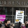 Four arrests as gardaí remove protesters during demonstration at former Debenhams store