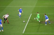 Ireland's David McGoldrick scores the winner as Blades beat Brighton
