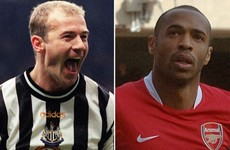 Alan Shearer and Thierry Henry are Premier League Hall of Fame's first inductees