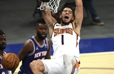 Phoenix Suns edge closer to top of West by snapping New York Knicks' hot streak