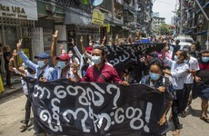 Violence erupts in Myanmar as thousands gather to call for 'spring revolution' against military junta