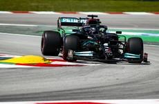 Lewis Hamilton celebrates 100th pole position at Spanish Grand Prix