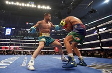 Canelo stops Saunders to unify super middleweight titles in front of 73,126 Texas crowd