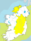 Heavy rain and risk of spot flooding as thunderstorm warning issued for 13 counties