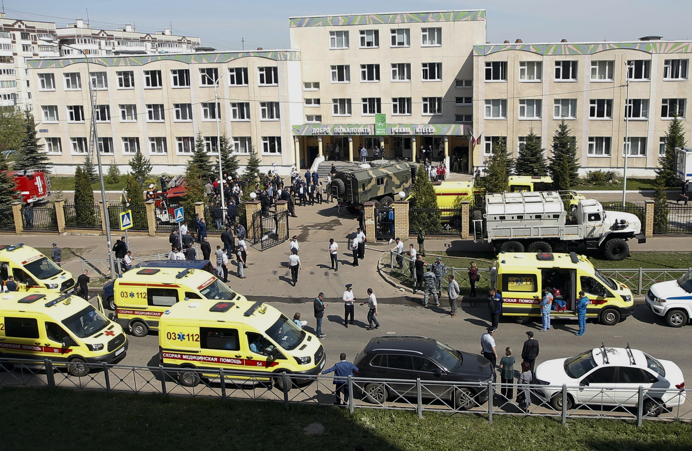 At least 11 killed in school shooting in Russian Federation, including children