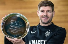 Steven Gerrard lands SFWA Manager of the Year prize