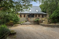 Escape to this stone retreat on six wooded acres in Wexford for €595k