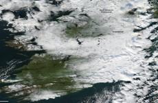 NASA captures photo of snowy Ireland