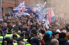 Police urge Rangers fans to leave after thousands arrive at Ibrox