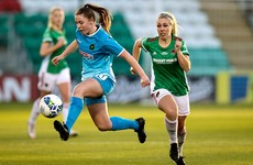 Ryan-Doyle double helps champions and leaders Peamount to win over battling Cork City
