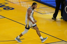 Steph Curry's 46 points clinch scoring title and eighth seed for Golden State