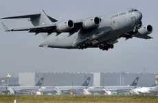 US military cargo plane lands at Dublin's Baldonnel airfield on 'technical stop'