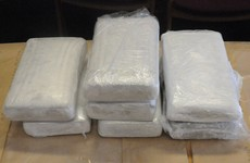Man (30s) arrested after €812,000 worth of cocaine seized during stop and search of vehicle