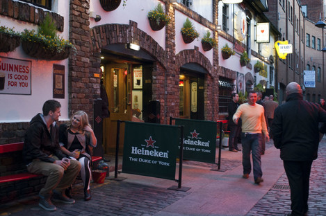 The Duke of York pub in the cathedral quarter, Belfast, Northern Ireland