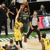 Last-gasp Middleton gives Bucks play-off advantage against the Heat