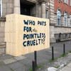 Hoardings were put up where homeless man was known to sleep to 'prepare building for Leaving Cert'