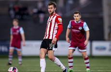 Will Patching scores two free-kicks as Derry win in Drogheda