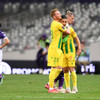 Nantes fans gatecrash club's survival celebrations and attack staff
