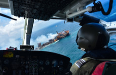 Race to prevent environmental disaster as chemicals ship sinks off Sri Lanka