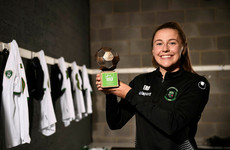 Seventh heaven as Peamount United striker scoops Player of the Month award