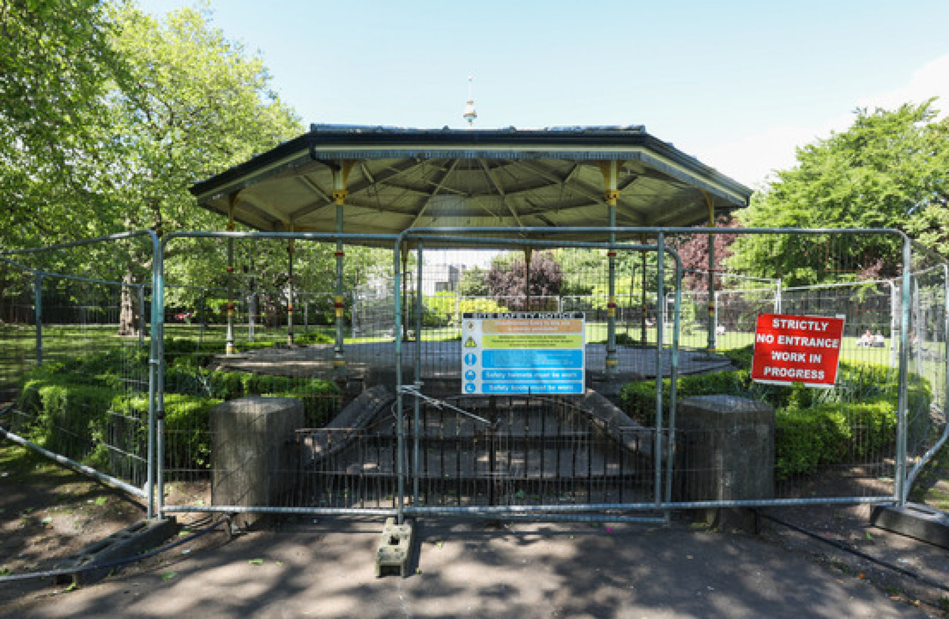 OPW minister criticises 'reckless behaviour' at 'fragile' St Stephen's Green bandstand