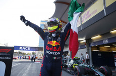 Verstappen crashes out, Hamilton finishes 15th as Perez claims dramatic win