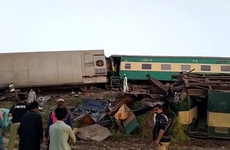 Dozens dead after trains collide in southern Pakistan