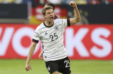 Müller scores first international goal in two years as Germany thrash Latvia 7-1