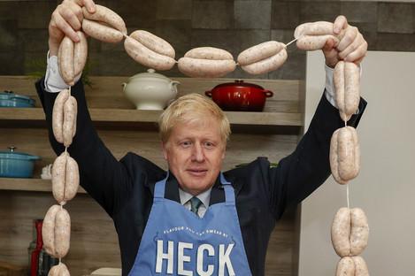 Boris Johnson on the campaign trail in 2019.