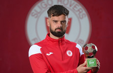 Midfielder for table toppers Sligo Rovers lands Player of the Month prize