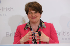 Watch: Arlene Foster sings verse from Frank Sinatra's That's Life at summit