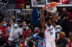 Embiid scores 27 as Sixers roll over Hawks in front of 16,400 fans, Suns rout Nuggets