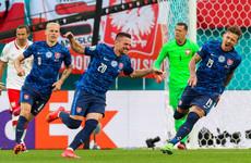 Inter Milan defender the hero as Slovakia stun 10-man Poland