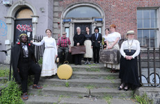 Protest held outside James Joyce's 'House of the Dead' over plans to turn it into hostel