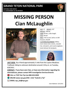 Search operation ongoing in US national park for missing Irishman Cian McLaughlin