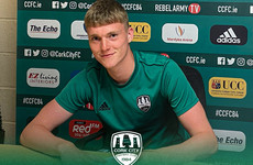 Son of Olympians Rob and Marian Heffernan signs first professional contract at Cork City