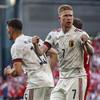 Belgium spoil Eriksen tribute with comeback win over Denmark as De Bruyne stars