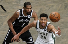 Giannis Antetokounmpo outduels Durant as Bucks oust Nets to reach East finals