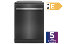 GRUNDIG Full Size Dishwasher - Dark Steel