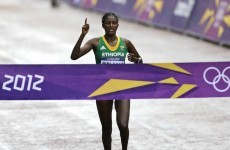 Ethiopia's Gelana wins women's marathon in record time