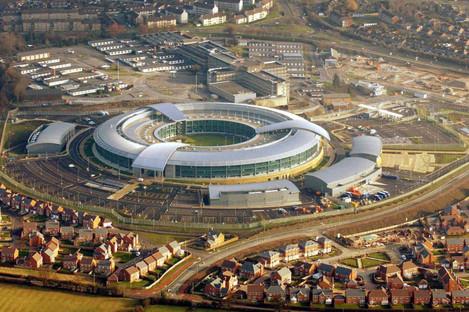 The GCHQ building outside Cheltenham.