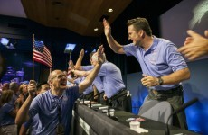 """PHOTOS: """"Touchdown confirmed!"""" Celebrations as NASA rover lands on Mars"""
