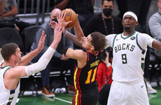 Giannis Antetokounmpo leads the Milwaukee Bucks to series-levelling victory